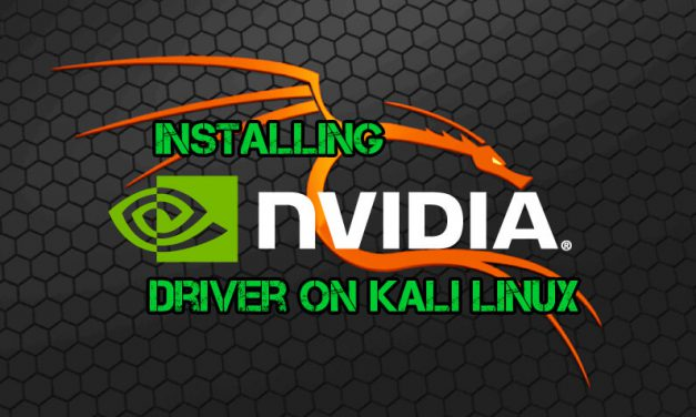 HOW TO INSTALL NVIDIA DRIVER ON KALI LINUX